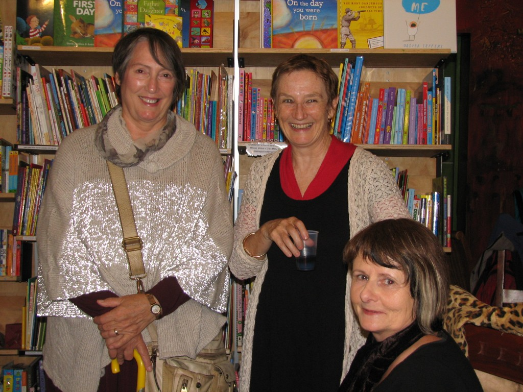 Anna Couani, Annee Lawrence and Jane Skelton Newtown launch of Lives of the Dead
