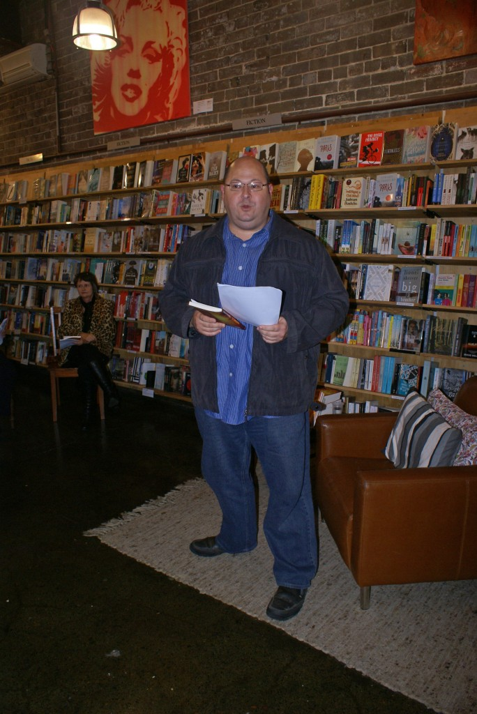 Walter Mason launches Lives of the Dead, Berkelouw Books, Newtown