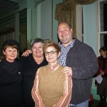 from left jane Skelton, editor, Linda Godfrey, Walter Mason and publisher Bronwyn Mehan at the Katoomba launch of Lives of the Dead